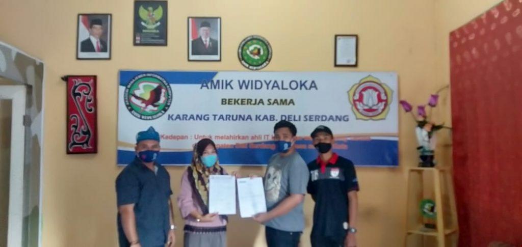Kerjasama Afkab Deliserdang - AMIK Widyaloka, Main Futsal Dapat Beasiswa